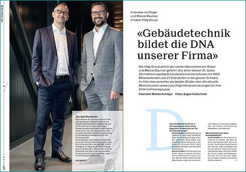 Marcel und Roger Baumer, Inhaber Hälg Group