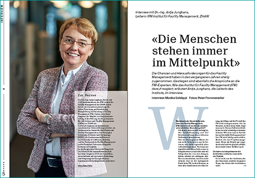 Dr.-Ing. Antje Junghans, Leiterin IFM Institut für Facility Management, ZHAW