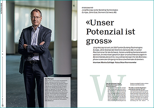 Jürg Herzog, Leiter Building Technologies Europa, Zone Süd, Siemens Schweiz AG