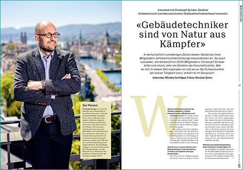 Christoph Schaer, Direktor suissetec