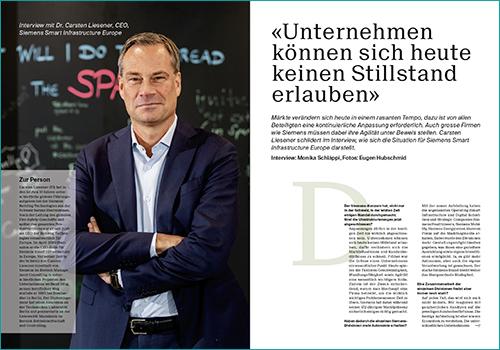 Dr. Carsten Liesener, CEO, Siemens Smart Infrastructure Europe