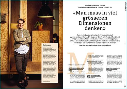 Marloes Fischer, Geschäftsführerin Madaster Services Schweiz AG